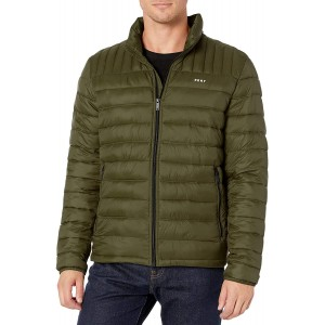 Men's Water Resistant Ultra Loft Quilted Packable Puffer Jacket