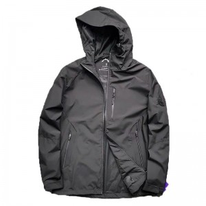 Men's waterproof Lightweight Packable Raincoat
