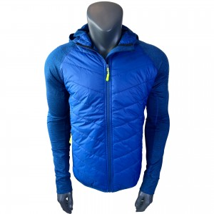 Mens hybrid knit melange running jacket