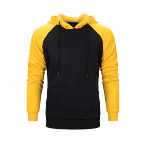 Men's basic hoodie with hood color contrasted WY39
