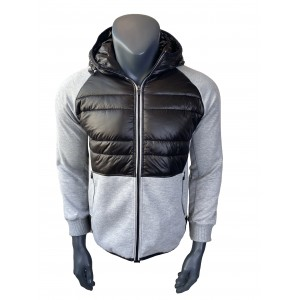 Mens hoodies hybrid jacket