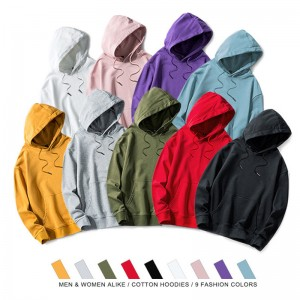 Men's basic hoodies with hood WY8803
